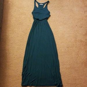 Lush Dark Teal Maxi Dress